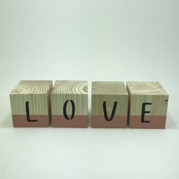 Cubo Love Decorado